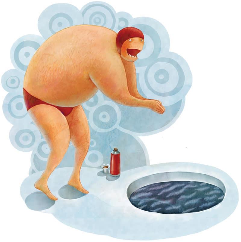 "man, swimming, winter-Χειμερινή κολύμβηση ""Μπαίνεις στο νερό και τα ξεχνάς όλα!""-naturanrg"