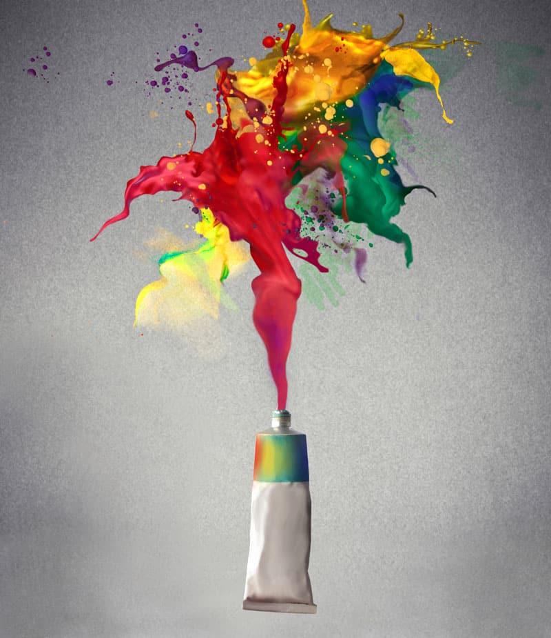 paint tube color