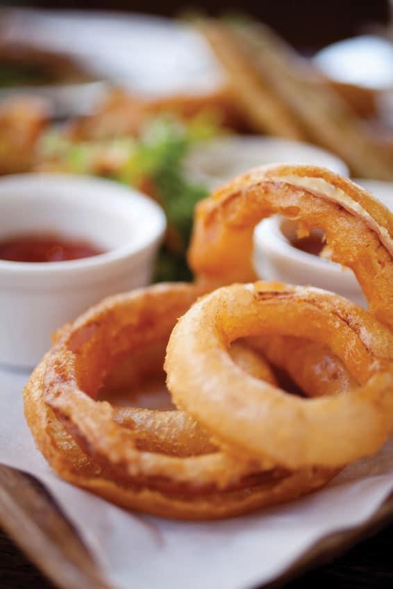 onion rings-Πικ-νικ απολαμβάνοντας νοστιμιές στη φύση