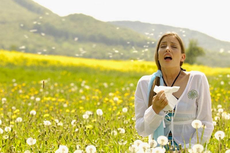 Woman-sneezing